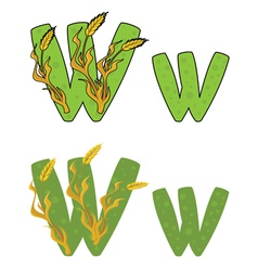 Letter W wheat vector