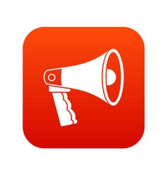 loudspeaker icon digital red vector image