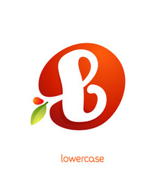 Lowercase letter b logo in fresh juice splash vector