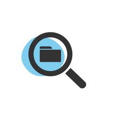 magnifying glass looking for a folder isolated vector image