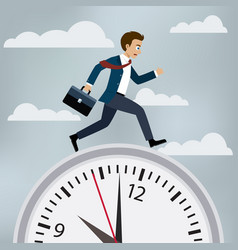 man in suit runs to work vector image