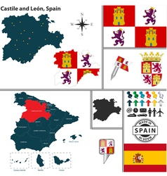 Map castile and leon vector