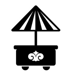 mobile stall icon simple black style vector image