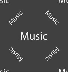 Music sign icon Karaoke symbol Seamless pattern on vector