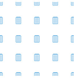 notebook icon pattern seamless white background vector image