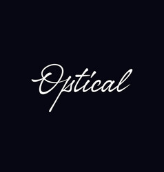 Optical lettering vector