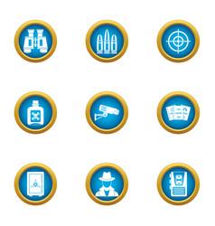 peep icons set flat style vector image