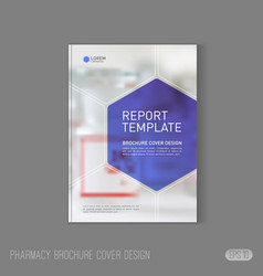 Pharmaceutical brochure cover template vector