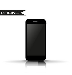 phone smartphone with reflection vector image