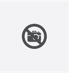 photo forbidden icon vector image