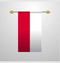 Poland hanging flag vector