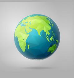 Polygon east earth hemisphere on light vector