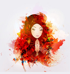 prayer religion christianity vector image