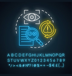 proofreading neon light concept icon text editing vector image
