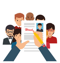 Recruitment human resources icon vector