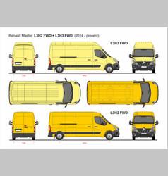 Renault master cargo van lwb l3 fwd 2014-present vector