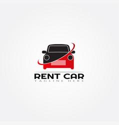 Rental car icon templatedealcreative logo design vector