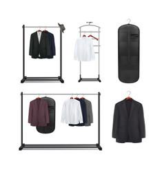 Set clothes racks vector