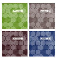 set of cards patterns at the background vector image