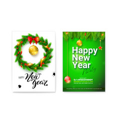 set of different posters for happy new year events vector image