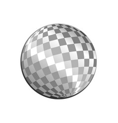 silver light disco ball graphic design vector image