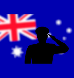 solder silhouette on blur background with vector image