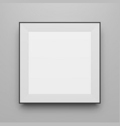 Square black frame mockup for portfolio vector