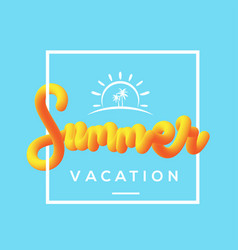 summer vacation with fluid background vector image