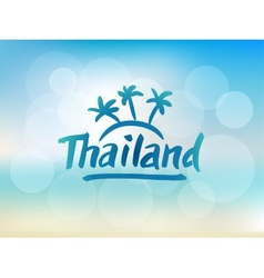 thailand hand drawn lettering vector image