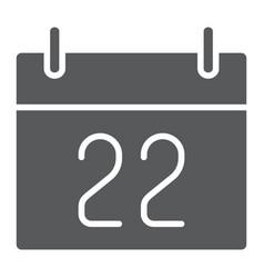 Thanksgiving calendar glyph icon holiday vector