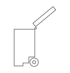 Trash bin icon outline style vector image