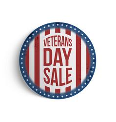 Veterans day big patriotic circle emblem vector