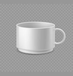 white coffee mug realistic ceramic cup mockup vector image