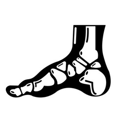 Xray of foot icon simple style vector