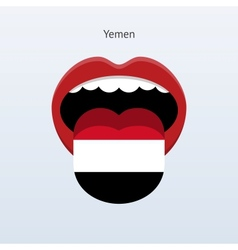 Yemen language Abstract human tongue vector