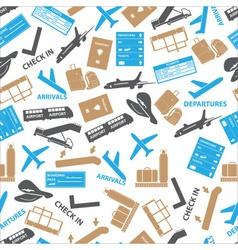 Airport icons color seamless pattern eps10 vector
