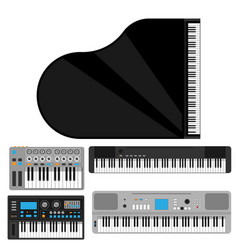 Keyboard musical instruments classical vector