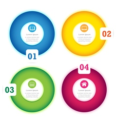 Modern Circle Design full color template vector image vector image