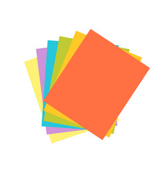 Origami colored paper abstract icon craft symbol vector