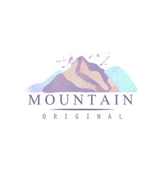 mountain original logo template tourism hiking vector image vector image