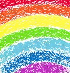 Pastel crayon painted rainbow image vector image vector image