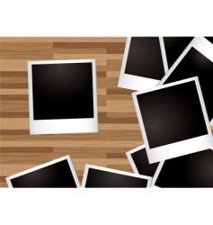 polaroid photos vector image