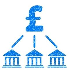 Pound Bank Organization Grainy Texture Icon vector image vector image