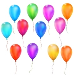 Set of Color Glossy Balloons EPS 10 vector image vector image