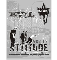 attitude skater vector image vector image