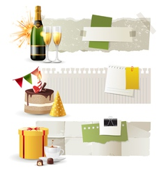 celebration banners vector image vector image