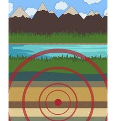 Earthquake vector image