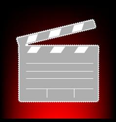 film clap board cinema vector image
