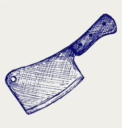 Meat cleaver knife vector image