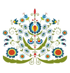 polish folk with decorative floral vector image
